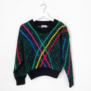 VTG FaBE Multi Color Textured Knit Sweater